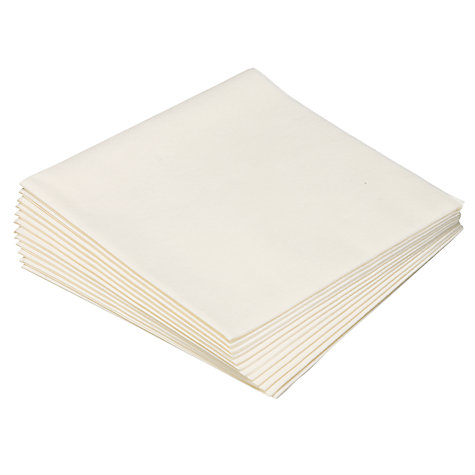 Buy John Lewis Napkins, 40cm, Set of 12, White Online at johnlewis.com