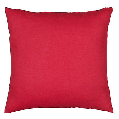 Buy John Lewis Value Plain Cotton Cushion Online at johnlewis.com