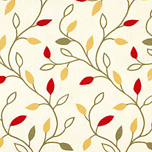 Buy John Lewis Leaf Trail PVC Tablecloth Fabric, Red Online at johnlewis.com