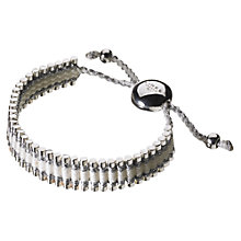 Buy Links of London Adjustable Cord Friendship Bracelet, Pink Online at johnlewis.com