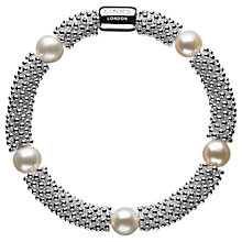 Buy Links of London Effervescence Star Sterling Silver Pearl Bracelet, Silver/White Online at johnlewis.com