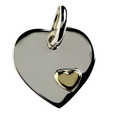 Buy Links of London 18ct Heart Disc Charm Online at johnlewis.com