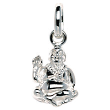 Buy Links of London Sterling Silver Laughing Buddha Charm, Silver Online at johnlewis.com