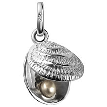 Buy Links of London Sterling Silver Lucky Catch Shell Charm, Silver Online at johnlewis.com