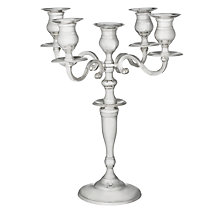 Buy Brissi Candelabra, Silver Plated, 5 Arm Online at johnlewis.com