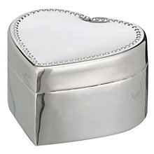Buy Brissi Heart Jewellery Box, Silver Plated Online at johnlewis.com