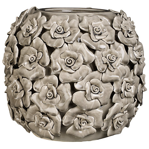 Buy Brissi Betty Barrel Vase, H20.5cm, Grey Online at johnlewis.com
