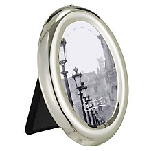 Buy Brissi Mignon Frame, Oval, Silver Plated Online at johnlewis.com