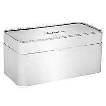 Buy Brissi Keepsakes Box, Silver Plated Online at johnlewis.com