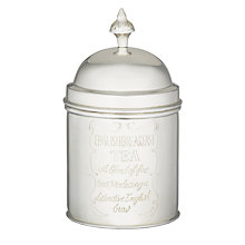 Buy Brissi Tea Caddy, Silver Plated Online at johnlewis.com