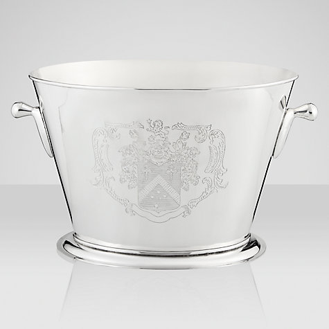 Buy Brissi Double Champagne Bucket With Handles, Silver Plated Online at johnlewis.com