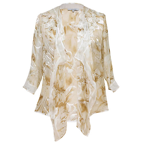 Buy Chesca Applique Daisy Devoree Waterfall Jacket Online at johnlewis.com