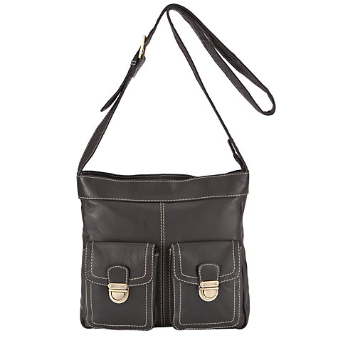 Buy John Lewis Leather Front Pocket Detail Across Body Handbag Online at johnlewis.com