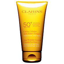 Buy Clarins New Sun Wrinkle Control Cream For Face Very High Protection UVB 50+, 75ml Online at johnlewis.com