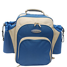 Buy Concept International Contour Picnic Backpack, 2 Person, Blue Online at johnlewis.com