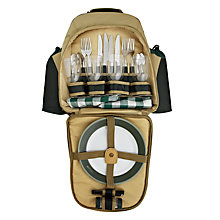 Buy Concept International Contour Picnic Backpack, 4 Person, Green Online at johnlewis.com