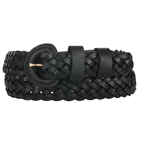 Buy John Lewis Medium Leather Plaited Belt Online at johnlewis.com