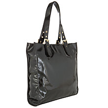 Buy John Lewis Patent Buckle Tote Handbag, Black Online at johnlewis.com