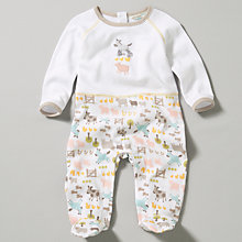 Buy John Lewis Baby Farmyard Animal Sleepsuit Online at johnlewis.com