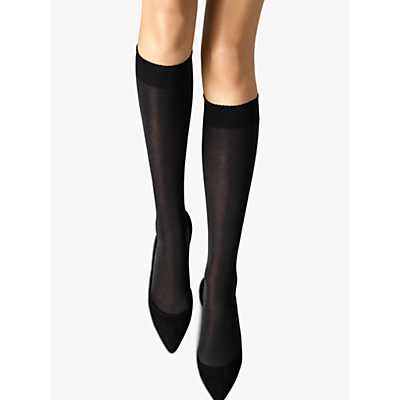 Wolford Velvet de Luxe 50 Knee Highs, size: S