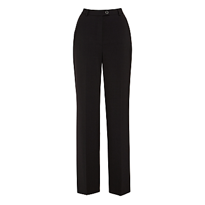 Gardeur City Straight Leg Trousers, Black
