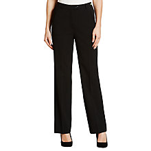 Buy Gardeur City Straight Leg Trousers, Black Online at johnlewis.com