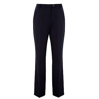 Gardeur City Straight Leg High Rise Trousers, Navy