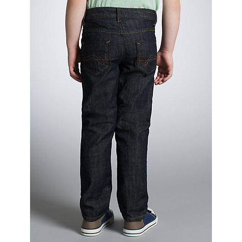 Buy John Lewis Boy Skinny Dark Denim Jeans, Blue Online at johnlewis.com