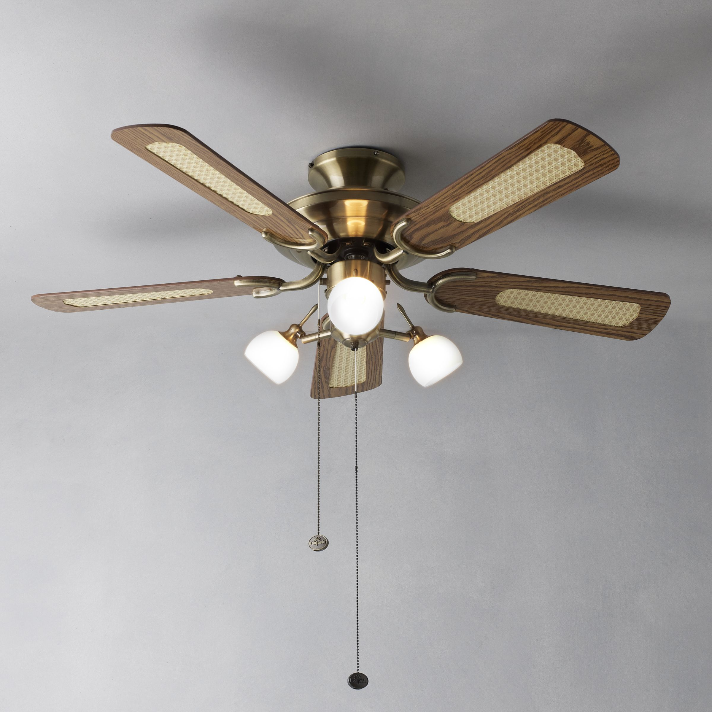 John Lewis Ceiling Lights Antique Brass : Buy fantasia mayfair ceiling fan and light antique brass