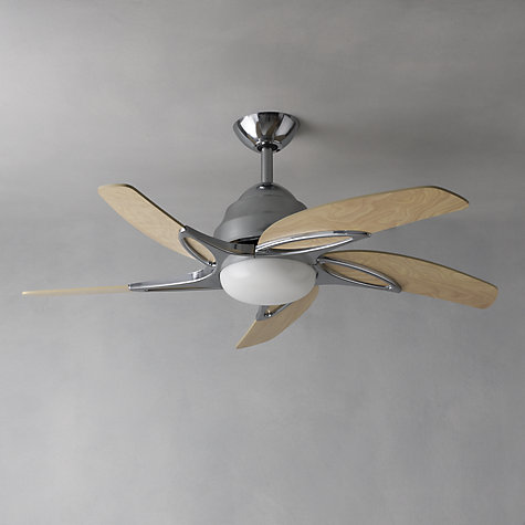 "Buy Fantasia Viper Ceiling Fan and Light, Stainless Steel, 44"" Online at johnlewis.com"