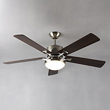 Buy Fantasia Delta Blade Ceiling Fan and Light, Dark Oak Online at johnlewis.com