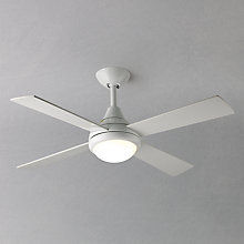 Buy Fantasia Sigma Ceiling Fan and Light, Gloss White Online at johnlewis.com