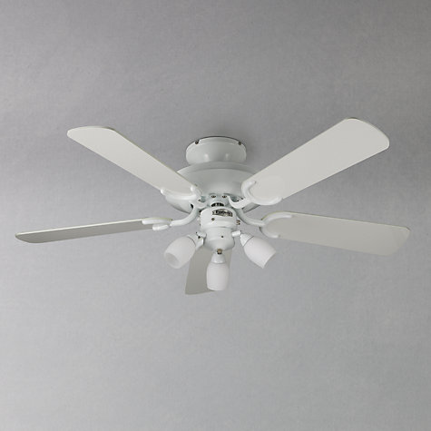 Buy Fantasia Mayfair Ceiling Fan and Light, White Online at johnlewis.com