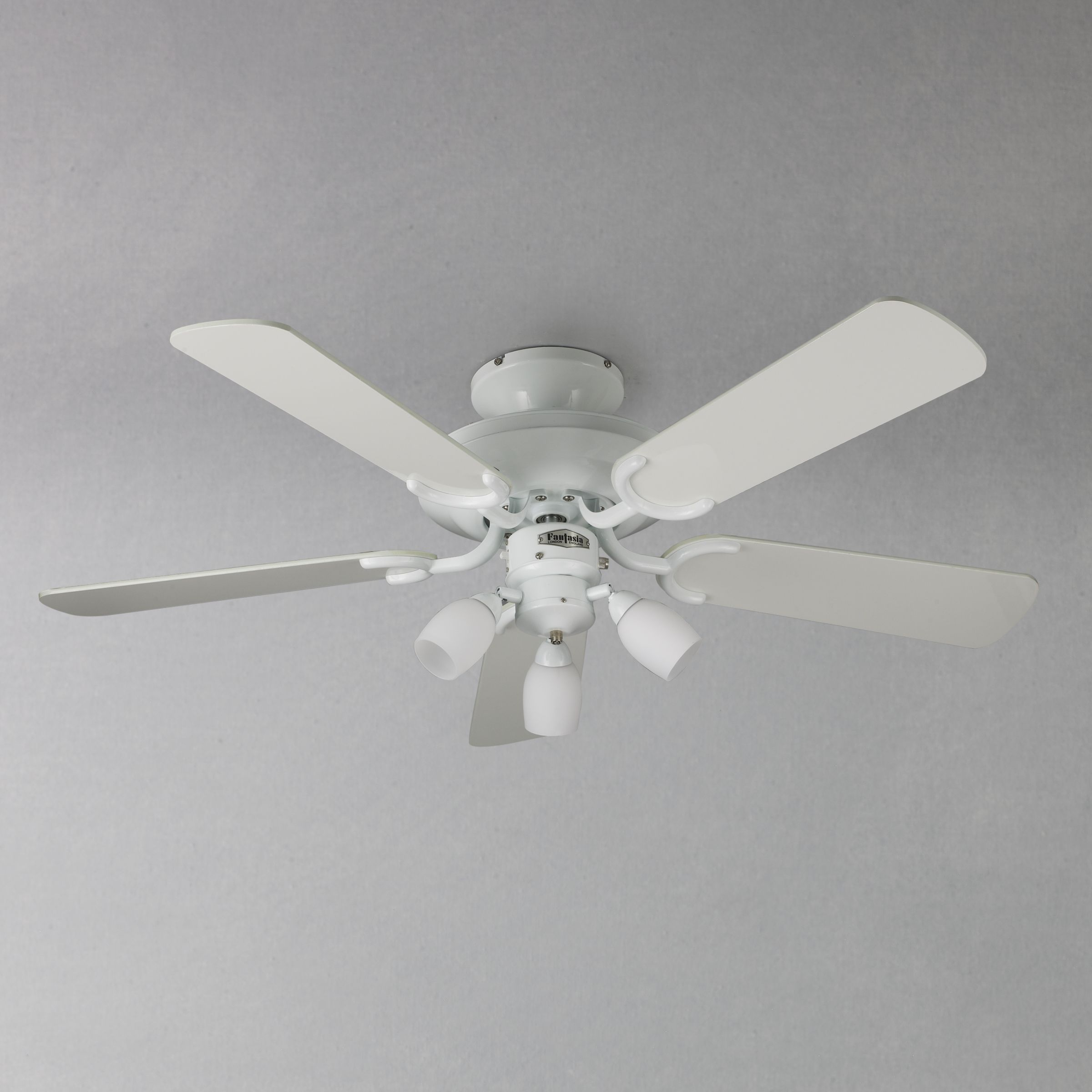 Buy Fantasia Mayfair Ceiling Fan and Light, White Online at johnlewis ...