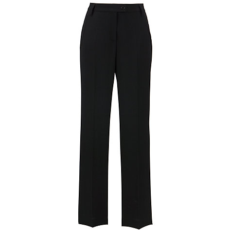 Buy Gardeur Petra High Rise Straight Leg Shorter Length Crepe Trousers, Black Online at johnlewis.com