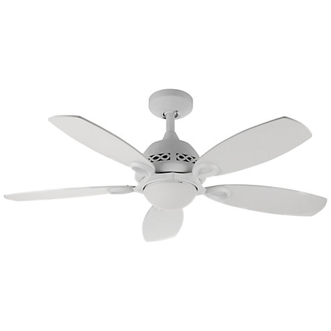 Buy Fantasia Phoenix Ceiling Fan and Light, Matt White Online at johnlewis.com