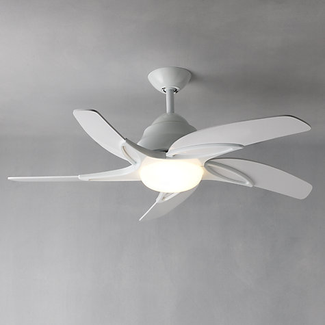 "Buy Fantasia Viper Ceiling Fan and Light, White, 44"" Online at johnlewis.com"