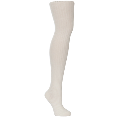 Falke Sensual Touch Ribbed Tights, White, size: S/M