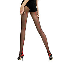 Buy Jonathan Aston Contrast Seam Heel Tights, Black/Red Online at johnlewis.com