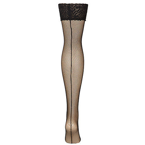 Buy Jonathan Aston Fishnet Backseam Hold Ups Online at johnlewis.com