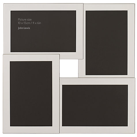 "Buy John Lewis Plain Multi-Aperture Frame, 4 Photo, 4 x 6"" (10 x 15cm) Online at johnlewis.com"