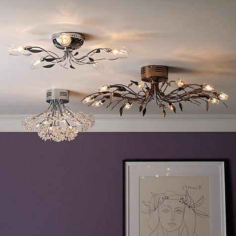 Buy John Lewis Blossom Flush Ceiling Light, 6 Arm Online at johnlewis.com