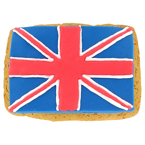 Buy Image on Food Union Jack Flag Gingerbread Biscuit, 70g Online at johnlewis.com