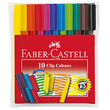 Buy Graf Von Faber Castell Clip Colours Fibre Tip Pens, Set of 10 Online at johnlewis.com