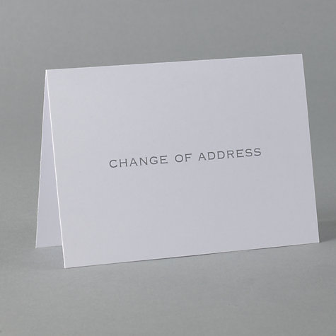 Buy John Lewis Change of Address Cards, Pack of 6 Online at johnlewis.com