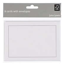 Buy John Lewis Blank Cards, Silver, Pack of 6 Online at johnlewis.com