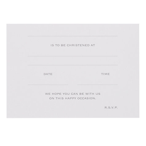 Buy John Lewis Christening Invitation Cards, Pack of 6 Online at johnlewis.com