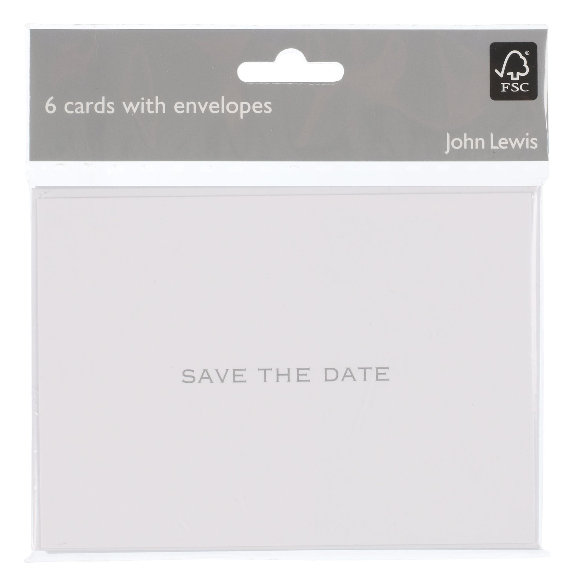 John Lewis Save The Date Invitation Cards, Pack Of 6