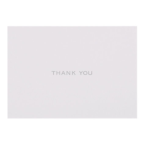 Buy John Lewis Thank You Cards, Pack of 6 Online at johnlewis.com