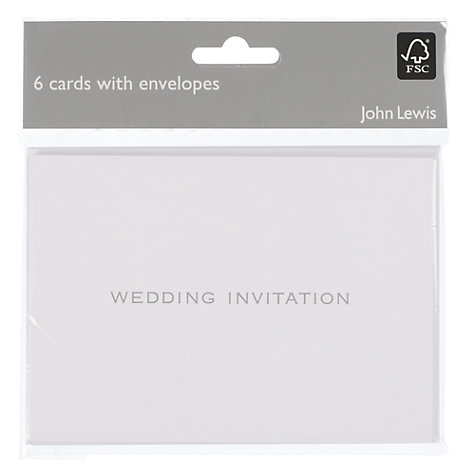 Buy John Lewis Wedding Invitation Cards, Pack of 6 Online at johnlewis.com